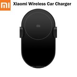 Xiaomi oryginalna szybka ładowarka 10W Mi uniwersalna bezprzewodowa ładowarka samochodowa szybkie ładowanie elektryczne Auto Pinch uchwyt samochodowy telefon dla Huawei