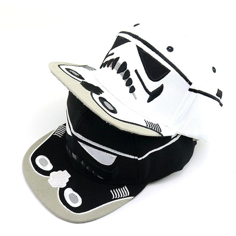 New Fashion Baseball Cap Star Wars Darth Vader Unisex Snapback Black White Men Women Hip Hop Dad Hat Jedi Knight Caps CP0459