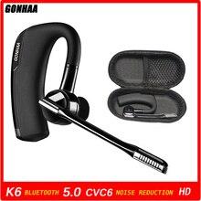 Écouteurs sans fil Bluetooth K6, casque d'écoute professionnel, HD, réduction du bruit, avec voiture