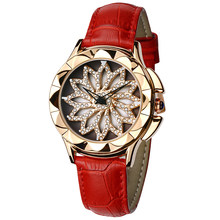 Panars criativo rotativo dial relógio de quartzo relógio de luxo feminino marca casual menina relógio senhoras relógios couro zegarek meski retro