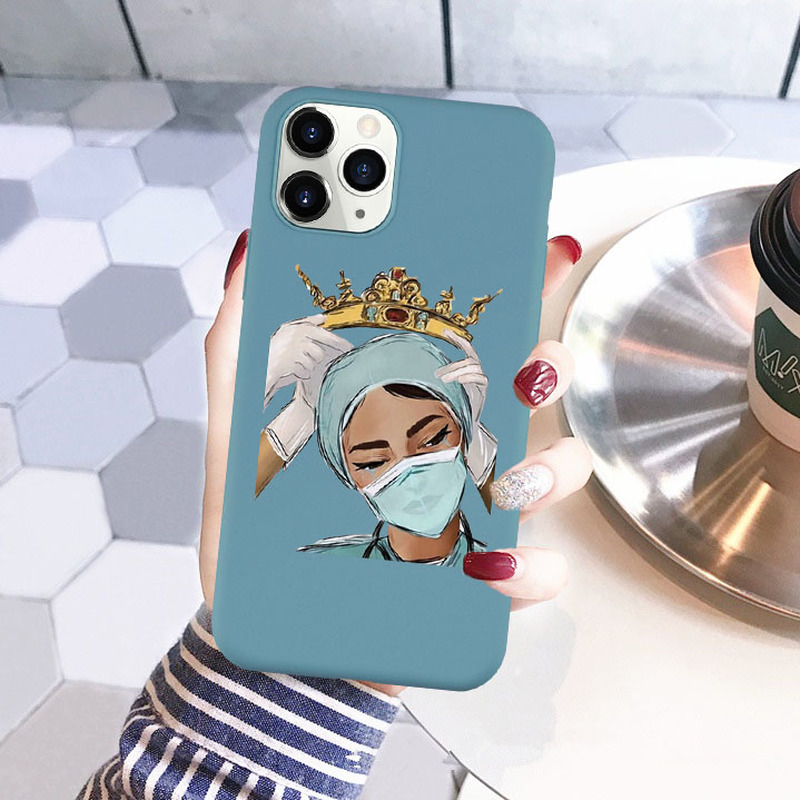 Nurse Queen Doctor King Phone Case for IPhone 11 Pro XS Max XR X 8 7 6 6S Plus SE 2020 Soft Silcone Cover Coque