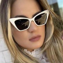 2021 lunettes de soleil yeux de chat femmes marque Design Vintage dame lunettes de soleil noir okulary lunettes de soleil UV400 lunette soleil femme