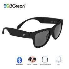 BGreen os Conduction Bluetooth casque Audio intelligent lunettes de soleil polarisées verre avec Bluetooth casque de course randonnée écouteur