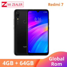Global ROM Xiaomi Redmi 7 4GB RAM 64GB ROM Blue Mobile Phone Snapdragon 632 Xiomi 12MP Camera 4000mAh Battery full screen