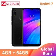 Küresel ROM Xiaomi Redmi 7 4GB RAM 64GB ROM Mavi Cep Telefonu Snapdragon 632 Xiaomi 12MP Kamera 4000mAh Pil tam ekran