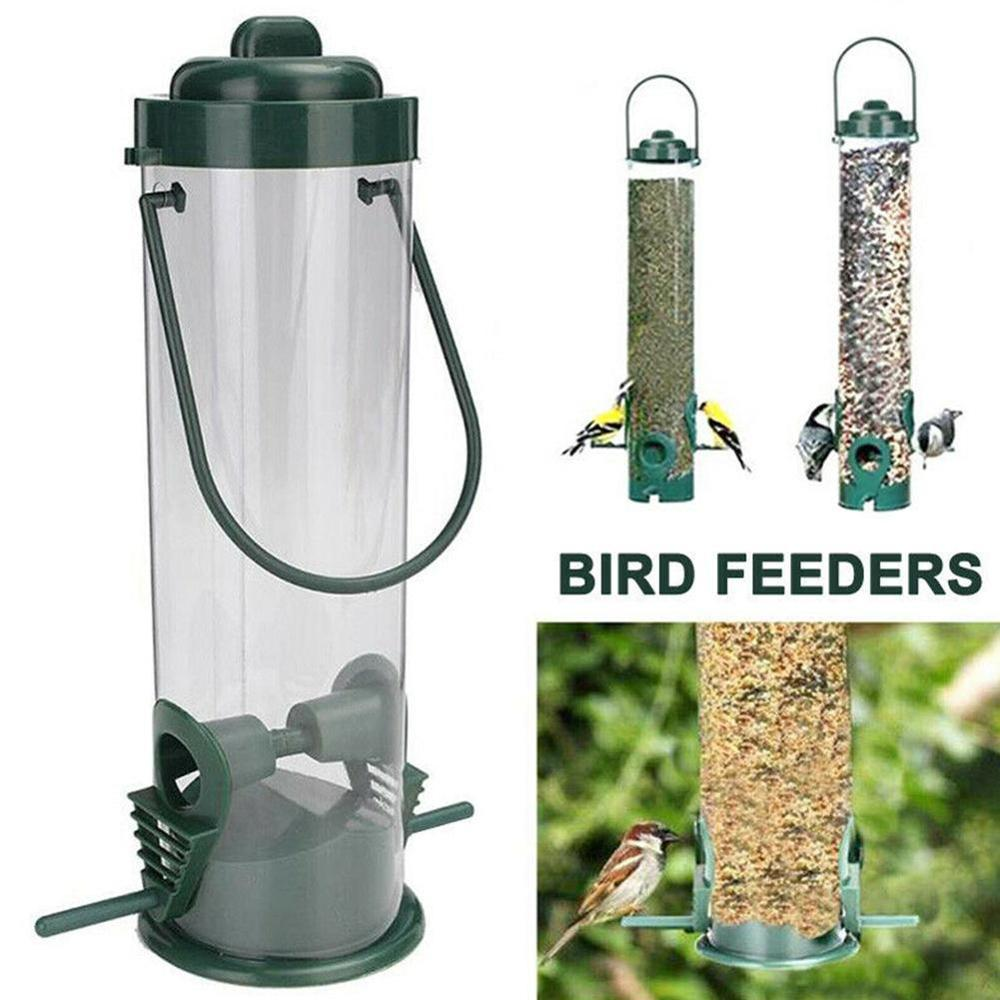 Bird Feeders Hanging Type Outdoor Pet Bird Seeds Food Feeder Tree Garden Snacks Bucket Holder Bird Feeder Feed Station