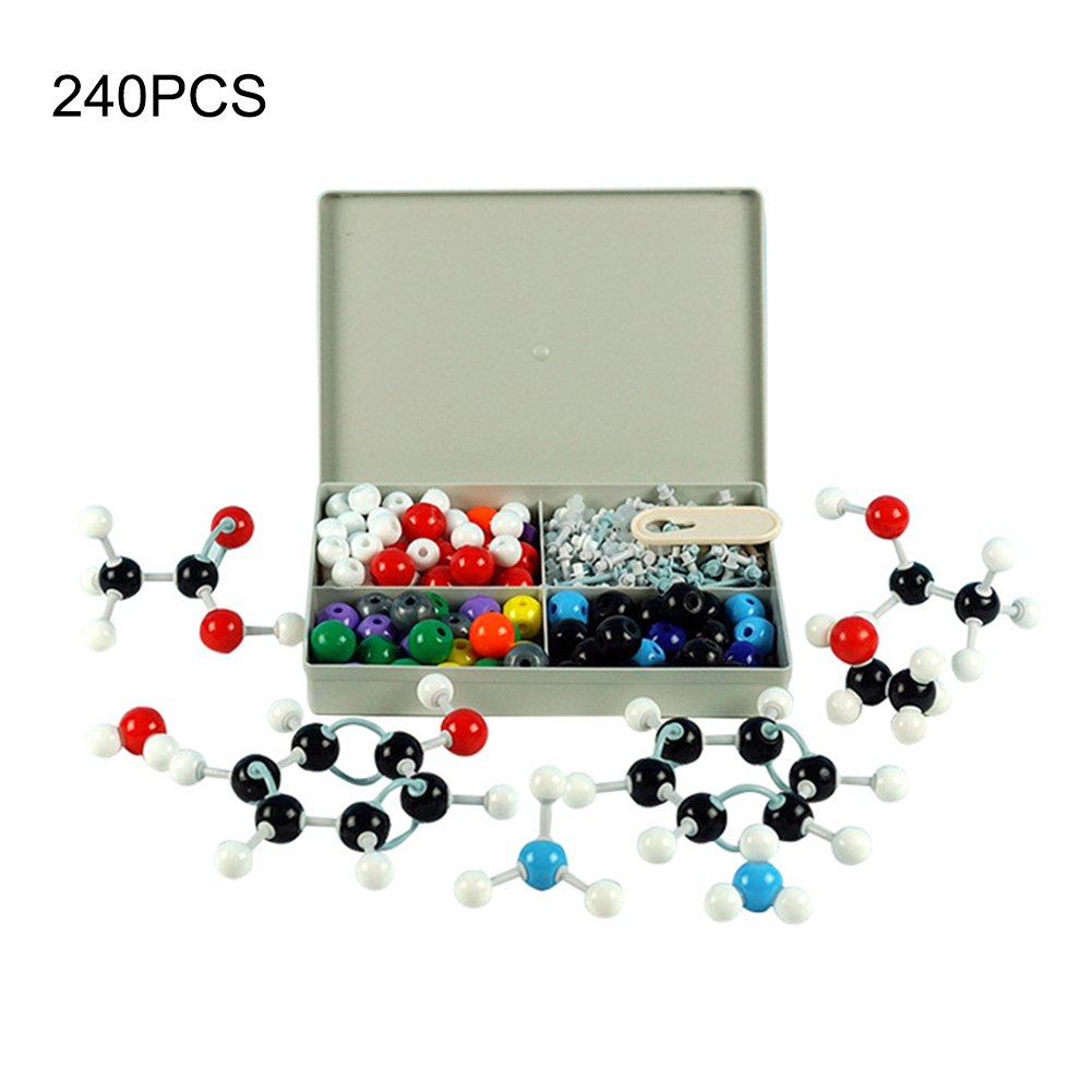 240 Pcs Chemistry Atom Molecular Models Kit Set General Scientific Children Educational Model Set