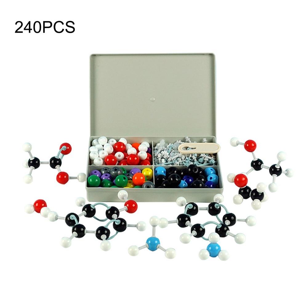 240 Pcs Chemistry Atom Molecular Models Kit Set General Scientific Children Educational Model Set