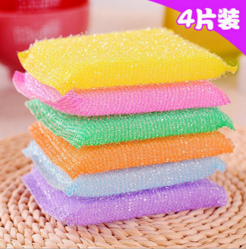 4 PCS Hot sale Sponge Bath Brush Wash Pot Clean Brush bathroom accessories Kitchen cleaning brush the dishes artifact image
