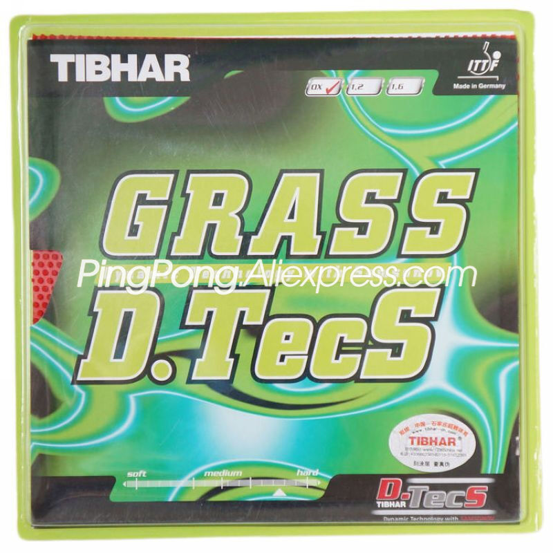 TIBHAR GRASS D.TECS Table Tennis Rubber Offensive Pips-long Chop Original TIBHAR GRASS Ping Pong Sponge