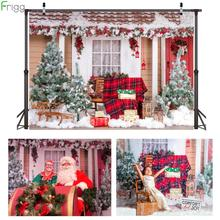 Vinyl Fabric Christmas Photography Backdrops Winter Snow Christmas Tree Photobooth Backgrounds For Photocall Studio Photographic free shipping vinyl backdrops for photography fond de studio de photographie christmas tree photography scenic backdrops sd 067