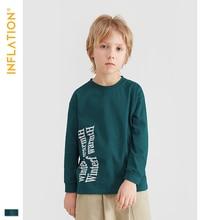 INFLATION Cloth 2019 Boy Clothes Cotton T-shirt Long Sleeve Children Tee Shirts Novelty Girl T-shirt Autumn Kids Top Tees 19261A цены