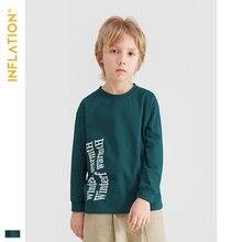 INFLATION Cloth 2019 Boy Clothes Cotton T-shirt Long Sleeve Children Tee Shirts Novelty Girl Autumn Kids Top Tees 19261A