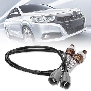 Vehemo 4pcs 2pc+2pc Fuel Oxidation Sensor Oxygen Sensor Exhaust System Upstream & Downstream Air Intake Car Oxygen O2 Sensor