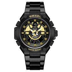 SMAEL luksusowe markowe zegarki męskie męskie zegarki sportowe wodoodporne zegarki sportowe wojskowe zegarki kwarcowe ze stali nierdzewnej w Zegarki kwarcowe od Zegarki na