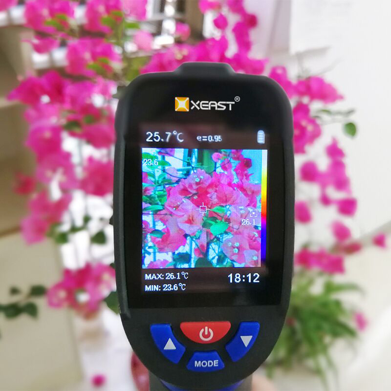 Thermal Imaging Camera In LCD Display With BLUE Background For Testing 1