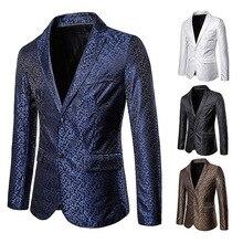 Mens British Style Suit Large Size Embossed Coat Man Blazer Blazers Men Suits