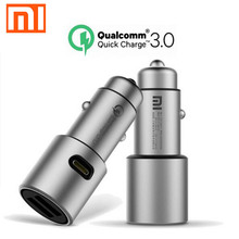 100% Original Xiaomi mijia car charger QC3.0 Universal /Qualcomm Quick Charge 3.0 2 Port MAX 36W USB Car Charger for car charger