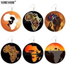 Somesoor Африканская Карта форма природный пейзаж креативный
