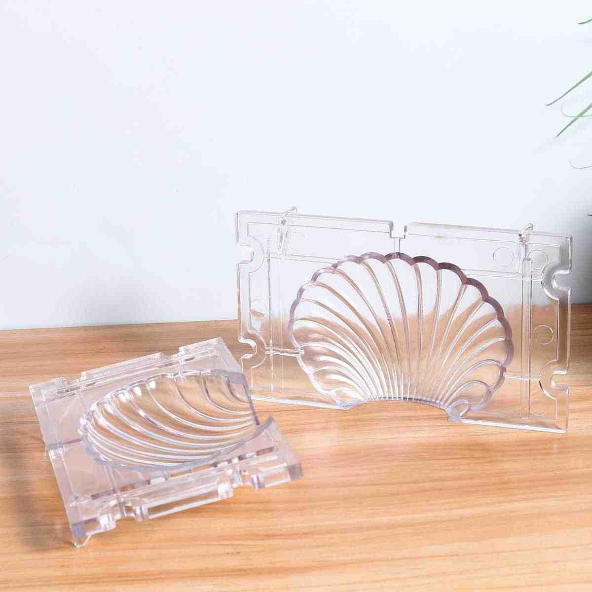 ברור אקריליק נר עובש נר ביצוע תבניות נרות סבון DIY נר מלאכת כלים חימר תבניות קרפט כלים כדור צורת פירמידה