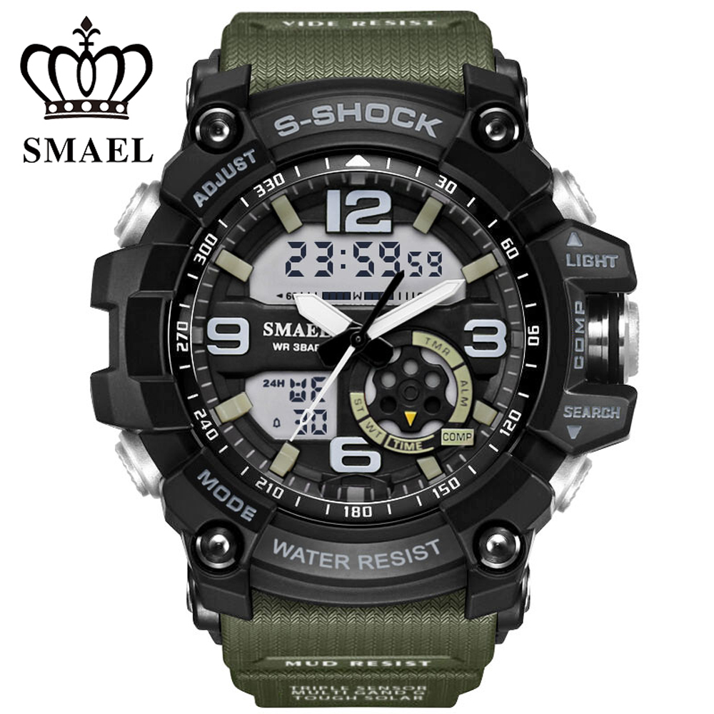 2019 Watches Military Outdoor Sport Watch Men Alarm Clock 5Bar Waterproof  Watches LED Display Shock Digital Watch Reloj Hombre