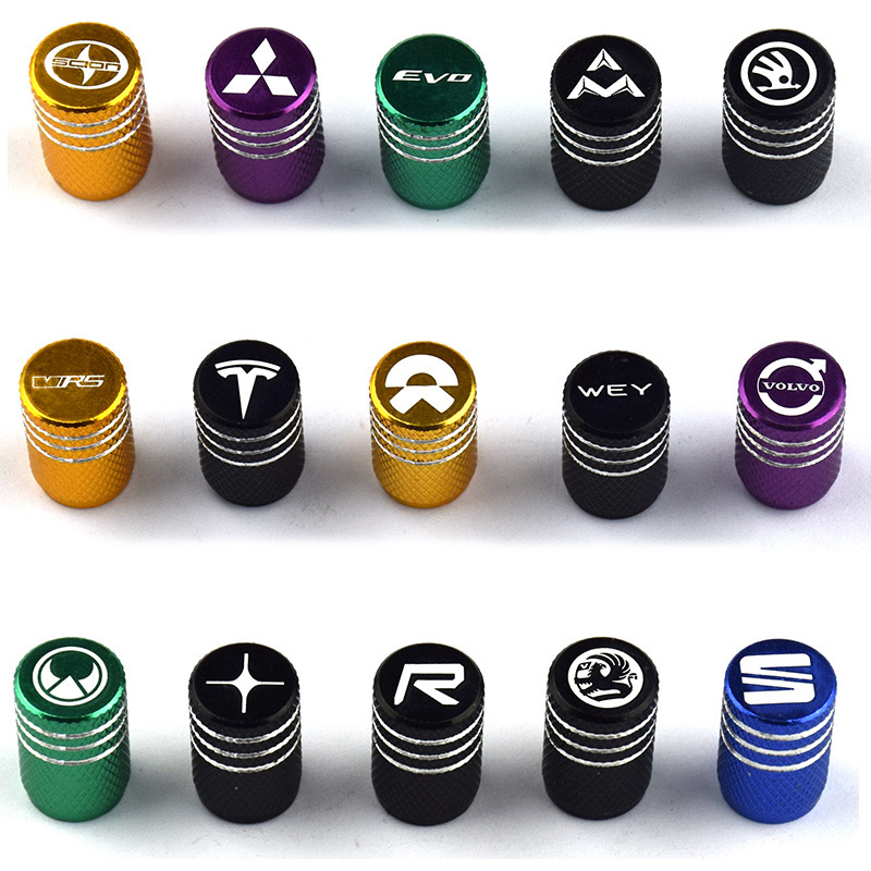 Volvo Mitsubishi Car Motorcycle Tire Aluminium Alloy Valve Cap Modified Special Cross-Border Selling
