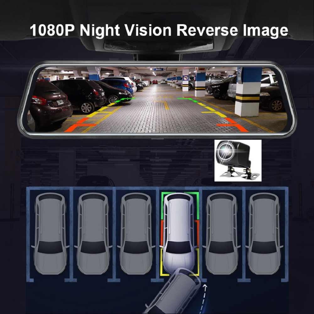 Nachtzicht auto achteruitkijkspiegel 1080P FHD IPS touchscreen auto recorder auto dvr dual lens achteruitkijkspiegel dash camera dvr