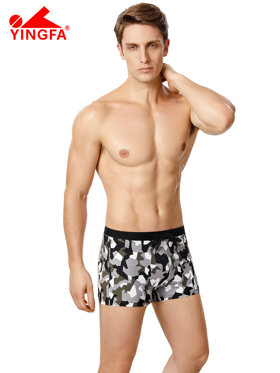 Swimming Trunks-Style Bathing Suit Hot Springs Plus-sized Menswear Plus-sized Boxer Quick-Dry Beach Shorts Industry Swimming Equ