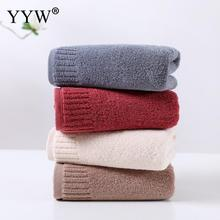 Bath Towel Super Absorbent Soft Toallas Washcloth Pure Color Cotton Siege Back High Quality Towels Home Supplies