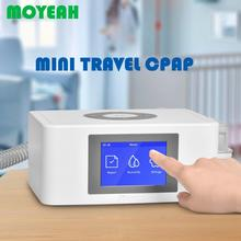 MOYEAH Mini Travel CPAP Machine Portable Anti Snoring Cpap Medical Ventilator with Nasal/ Full Face Mask Tube 16GB Micro SD Card
