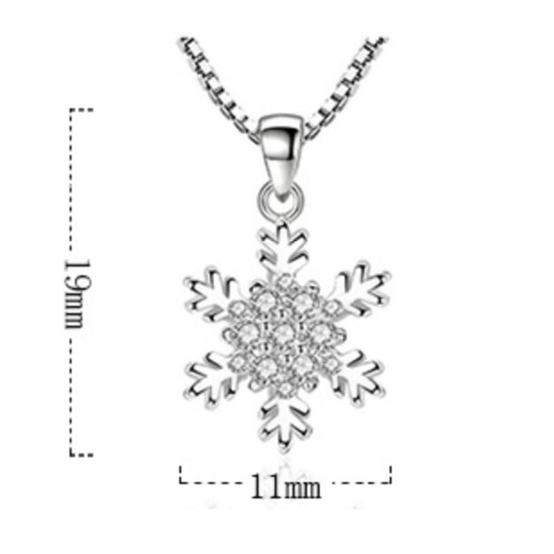 NEHZY 925 Sterling Silver Women's Fashion New Jewelry High Quality Crystal Zircon Flower Retro Simple Pendant Necklace Long 45CM