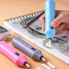 Electric-Eraser for Kids School Office-Supplies Rubber Refill Gift Mechanical Pencil-Drawing