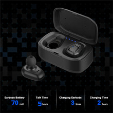 A7 TWS Беспроводная Bluetooth-гарнитура стерео гарнитура спортивные Bluetooth-наушники с зарядным устройством для iphone Android PK X2T i7/i7s