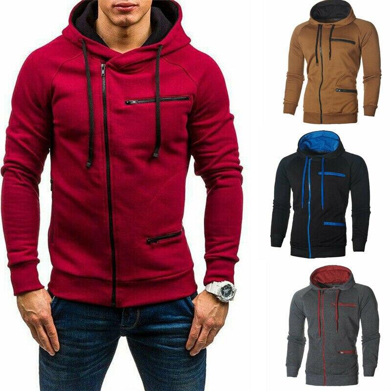 NEW Men/'s Winter Warm Camo Hooded Sweatshirts Hoodies Coat Jacket Jumper Outwear