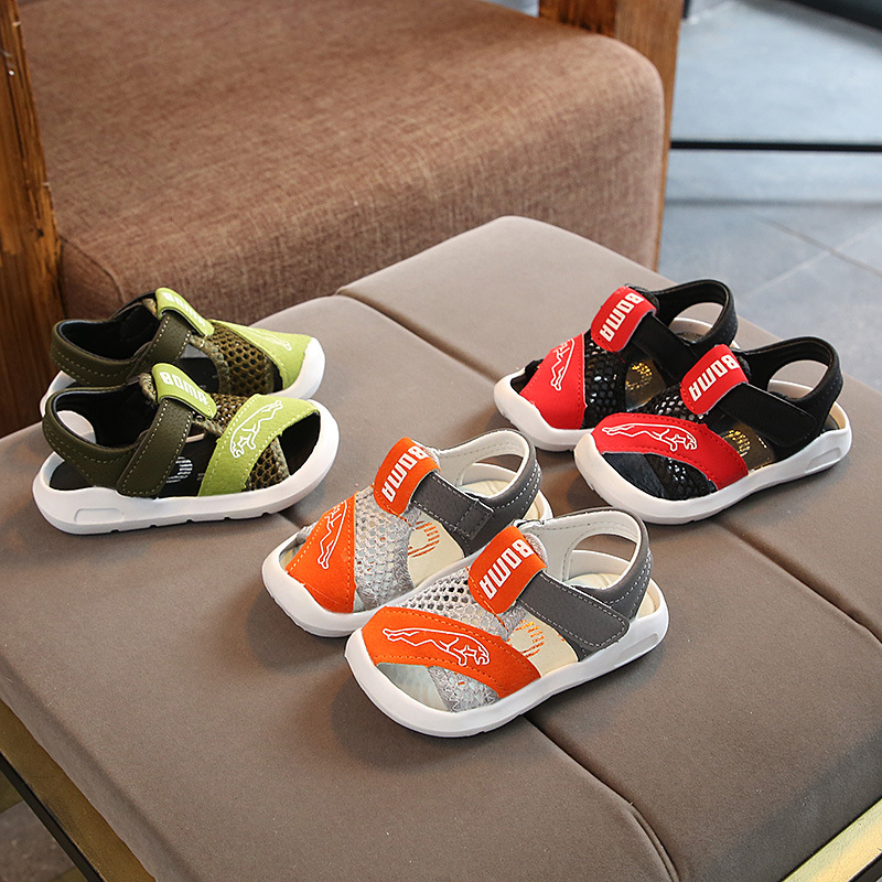 2020 New Summer Kids Shoes Brand Open Toe Toddler Boys Sandals Orthopedic Sport Pu Leather Baby Boys Sandals Shoes A-21
