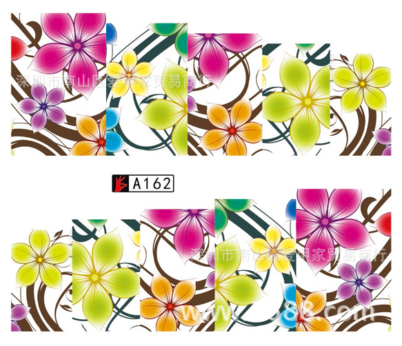 Europe And America Hot Selling Stick Completely Watermarking Manicure Flower Stickers Flowers Japan Beauty Nail Sticker French-s