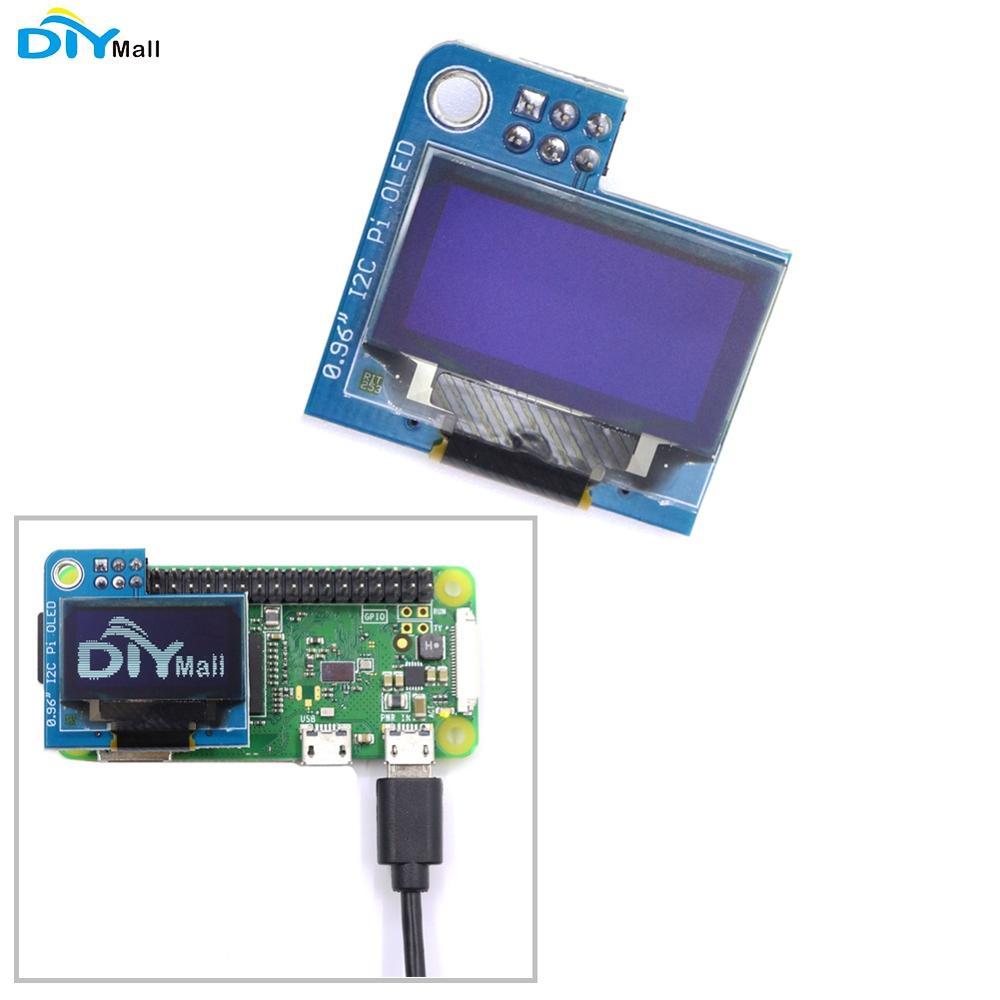 1/2/5/10pcs PiOLED 128x64 0.96inch Mini Monochrome OLED Display Module White for Raspberry Pi