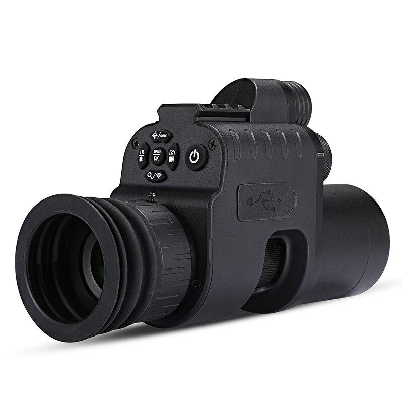 WG760 kızılötesi gece görüş kapsamı kamera wifi APP avcılık gece görüş tüfek kırmızı nokta görüşü IR gece görüş optik 21mm ray