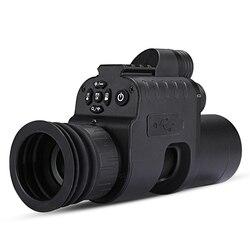 WG760 visión nocturna infrarroja alcance Cámara wifi APP caza visión nocturna mira telescópica punto rojo IR óptica de visión nocturna 21mm Rail