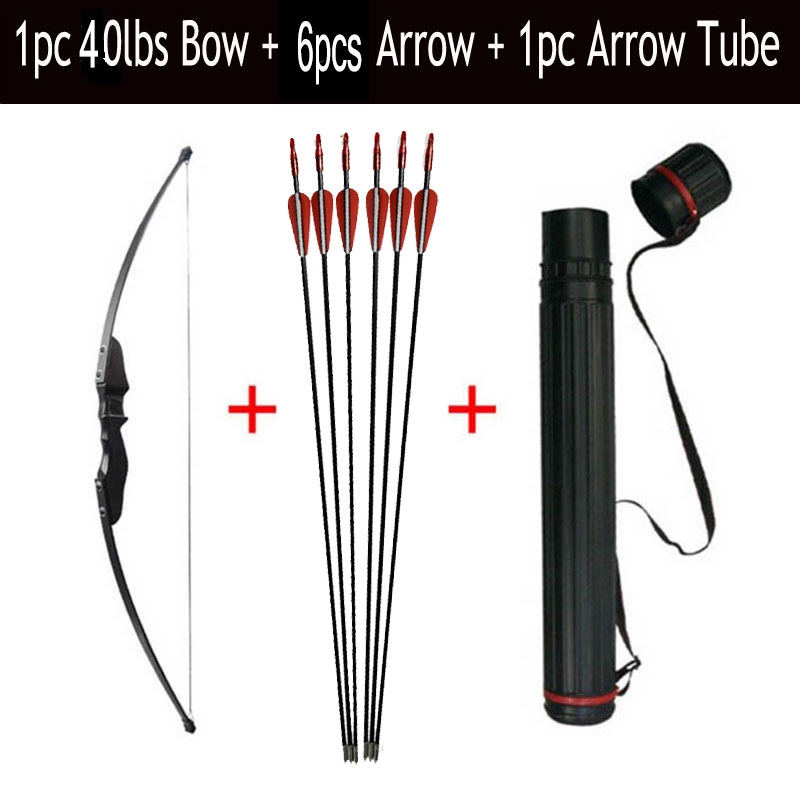1pc Archery Recurve Bow 30/40lbs Take Down CS Game Bow With Fiberglass Arrow With Arrow Quiver Shooting Accessories