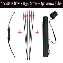 1pc Archery Recurve Bow 30/40lbs Take Down CS Game Bow With Fiberglass Arrow With Arrow Quiver Shooting Accessories цена