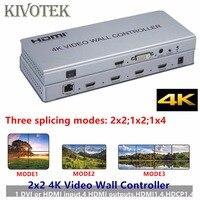 Hot 2x2 4Kx2K HDMI Video Wall Controller Adapter LCD Digital TV Hdmi DVI wall Processor 3 ways Splitter For DVD STB PS3 PC HDTV