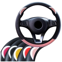 Car Accessories Cartoon Steering-Wheel Cover Braid On The Steering Wheel Cover For Women Funda Volante Car Wheel Cover