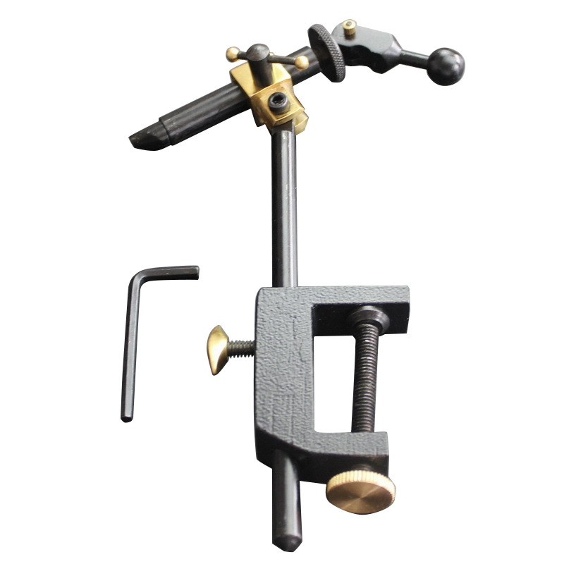 Rotary Fly Tying Vise C Clamp Steel Hard Jaws 360 Rotating Table Vise of Fly Tying Tools Kit Making Fly Fishing Tools Vice