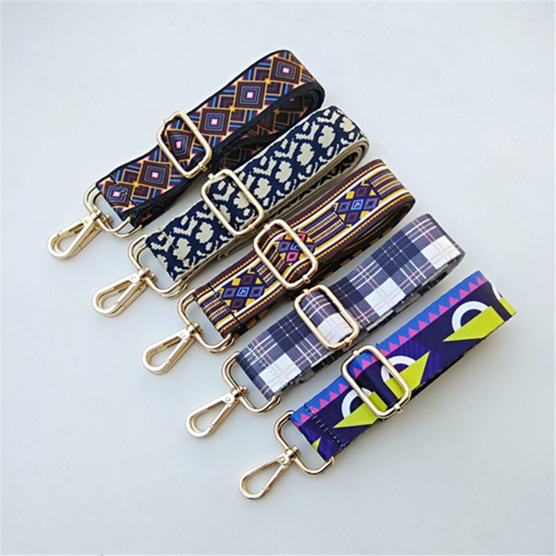 Flower Bag Accessories Bag Strap Women's Gold Silver Belt Handles Ornament Handbags Shoulder  Cross Body Messenger Belt Ethnic