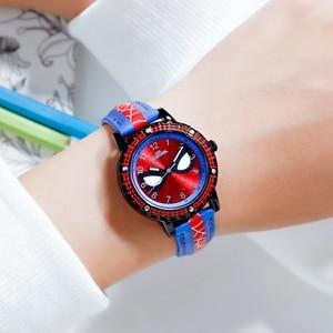 Image 5 - Spidermen Child Super Hero Cool Quartz Watch Marvel Student Clock Time Boys Birthday Gift Kids Relogio Infantil Zegarek Relojes