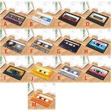 Tapete de puerta de felpa de franela cinta de Cassette Vintage Felpudo de interior alfombrilla de suelo antideslizante alfombra alfombras decoración felpudo del porche Tapete