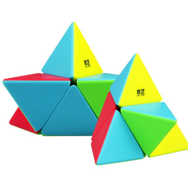 QIYI 2x2 Pyramid Cube Stickerless Magic Cubes Professional 2x2x2 Puzzle Speed Cube Educational Toys For Children 1