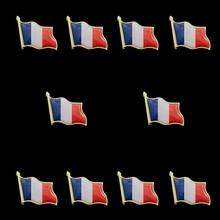 10PCS France French Waving World Epoxy Medal Flag Lapel Pin Badge Brooch 5pcs belgium waving flag lapel pins fashion flag badge pin epoxy medal brooches gifts