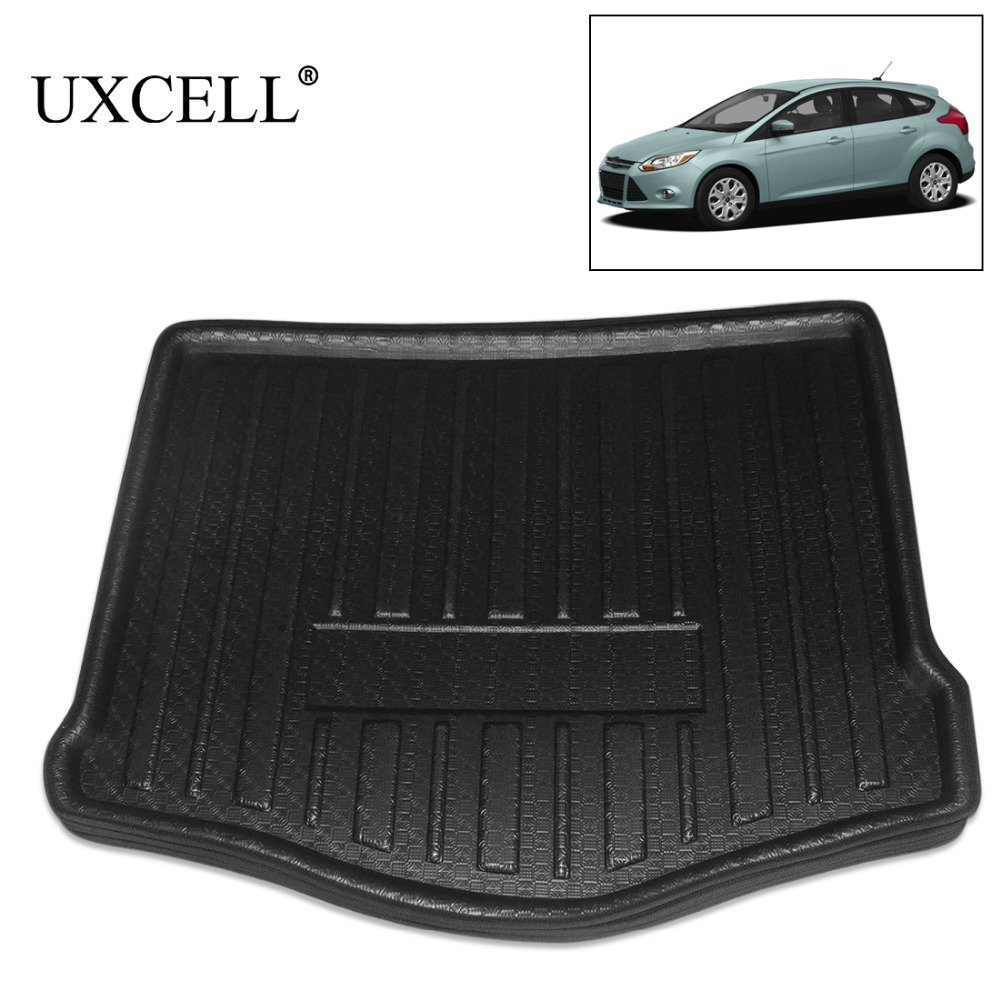 UXCELL Random Send Black Rear Car Trunk Tray Boot Liner Cargo Floor Mat Cover Carpet For Ford Focus Fusion Mondeo 2005 TO 2018